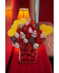 Chocolate Dipped Berries Blossom Edible Fruit Arrangement in Deer Lake, NL | YOUNG FLORAL DESIGNS