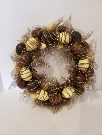 Chocolate Easter egg wreath