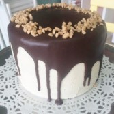Chocolate/ Irish Cream Cake Sweet Blossoms