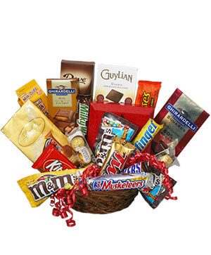 CHOCOLATE LOVERS' BASKET Gift Basket in Clio, MI | WILLOW COTTAGE FLOWERS AND GIFTS