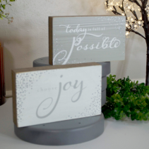 "Choose Joy 8.5""x5"" Decor"