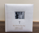 Christening album Personalized engraved gift
