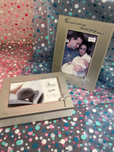 Christening frame or box Personalized engraved gift