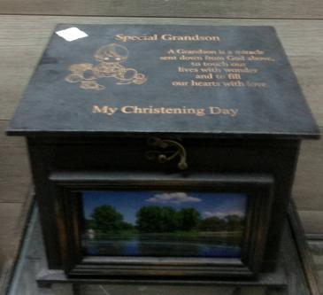 Christening keepsake box Personalized engraved gift