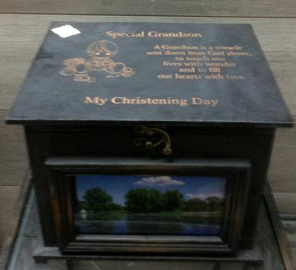 Christening keepsake box Personalized engraved gift
