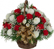 CHRISTMAS ANGEL basket arrangement