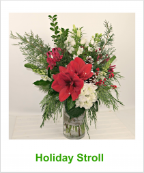 Holiday Stroll Vase