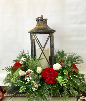 Christmas Antique  Holiday Arrangement  in Joliet, IL | LABO'S FLOWERS & GIFTS