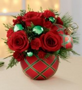 Christmas Ball Candy Jar   Arrangement