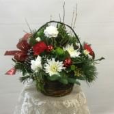 Christmas Basket Arrangment