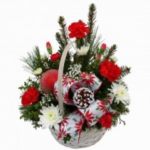 Christmas Basket W/ornament