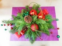 Christmas Baubles Centerpiece