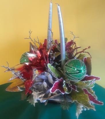 Silk Christmas Bells Arrangement