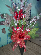 Christmas Berry Branch Cone $24.99