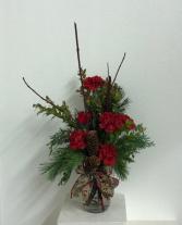 Christmas bird  Vase arrangement