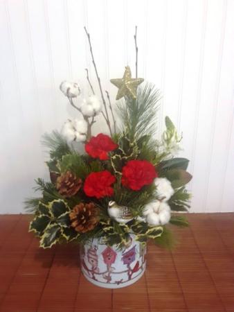 Christmas Birdhouse Christmas arrangement