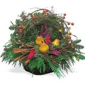 Christmas birds nest Basket