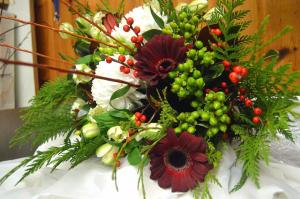 Christmas Bouquet Hand Tied Bouquet in Bracebridge, ON   CR Flowers & Balloons ~ A Bracebridge Florist