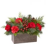 Christmas box Christmas center piece