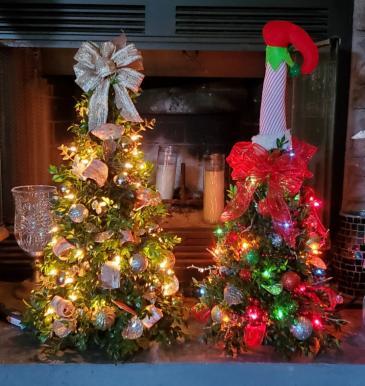 Christmas Boxwood Tree Handmade with fresh boxwood.
