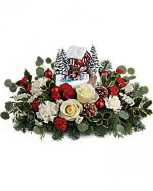 Christmas Bridge Bouquet Flower in Largo, FL | Rose Garden Florist