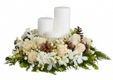 WINTERS GLOW Cream & White Arrangement