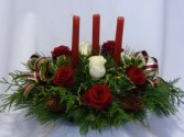 CANDLELIGHTS FOR CHRISTMAS FROM AMAPOLA BLOSSOMS   Prince George BC. Christmas Roses Candle Centerpieces, Christmas Centerpieces