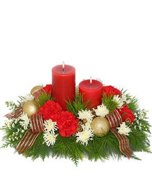 Christmas by Candlelight Centerpiece in Kamloops, BC | AWESOME BLOSSOM