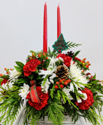 Christmas by Candlelight Table Centerpiece