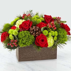 Christmas Cabin Bouquet in New Wilmington, PA | FLOWERS ON VINE