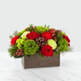 Christmas Cabin™ Bouquet by FTD Fresh Flower Centerpiece