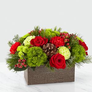 Christmas Cabin Bouquet Floral Arrangement