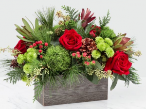Christmas Cabin Vase in Bryan, OH | Farrell's Lawn & Garden and Flowers