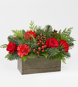 Christmas Cabin Wooden Box
