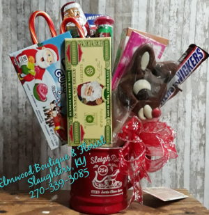 Christmas Candy Bouquet Candy with Mug in Slaughters, KY | Elmwood Boutique & Florist