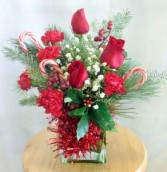 Christmas Candy Canes Holiday Arrangement