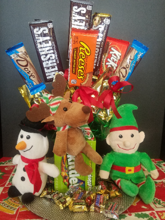christmas candy surprise candy bouquet - Christmas Candy Bouquet