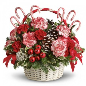 CHRISTMAS CANDY SURPRISE Christmas basket
