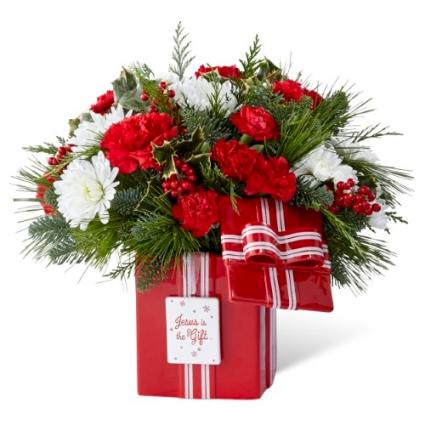 CHRISTMAS CANISTER Vase arrangement