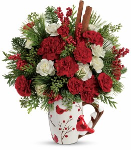 Christmas Cardinal Mug  in Snellville, GA | SNELLVILLE FLORIST