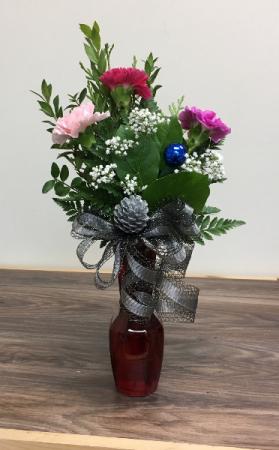 Christmas carnations Christmas vase