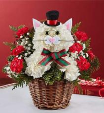 Christmas Caroling Cat Arrangement