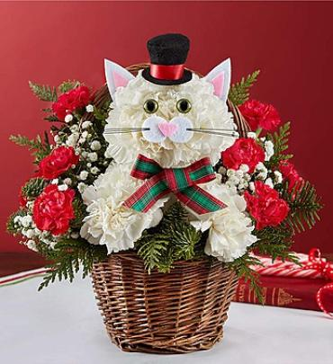 Christmas Caroling Cat Arrangement