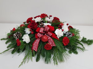 christmas casket spray funeral