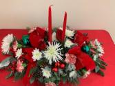 Christmas Center Piece Christmas Fresh Arrangement