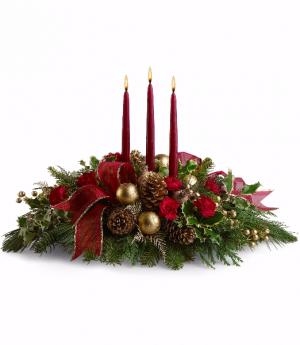 Christmas Centerpiece 1  in Wetaskiwin, AB | DENNIS PEDERSEN TOWN FLORIST