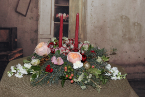 Christmas Centerpiece 2 Traditional in Stevensville, MT | WildWind Floral Design Studio
