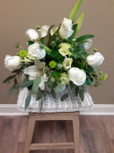christmas centerpiece all white