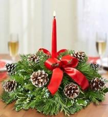Christmas Centerpiece Fresh Arrangement