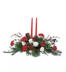 Christmas Centerpiece Fresh Christmas holiday table piece